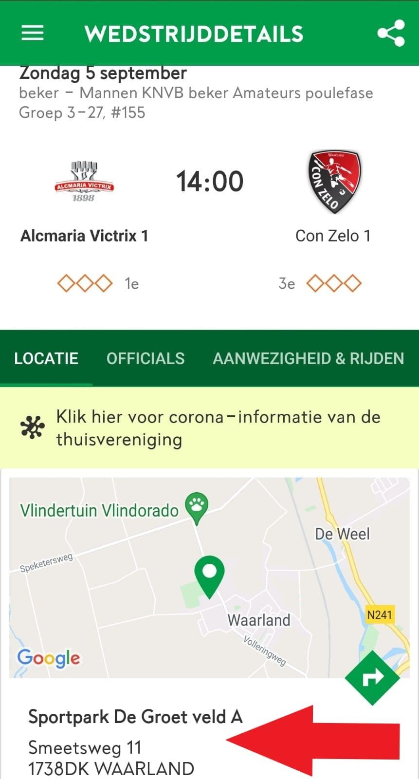 5 september Alcmaria Zondag 1 in Waarland!